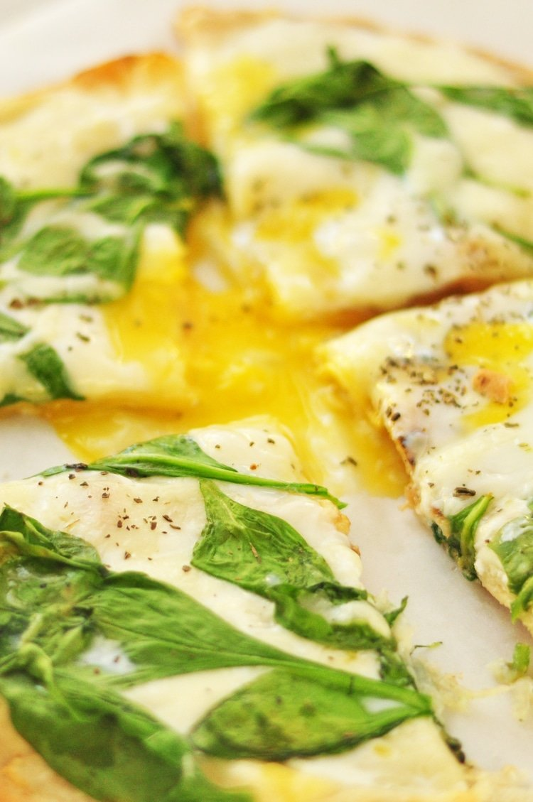 Our spinach and egg breakfast pizza is a new and healthy take on the beloved, classic Italian dish.