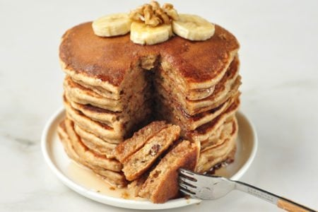 Two Comfort Foods Collide in Our Banana Bread Pancakes!