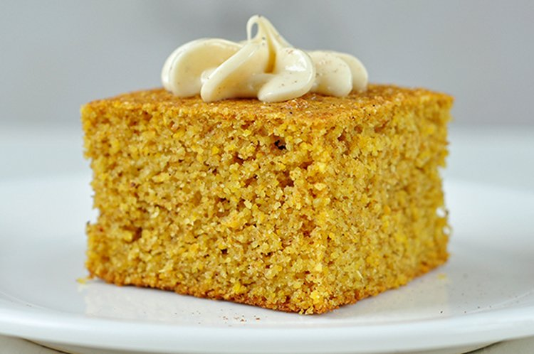 Pumpkin Cornbread with Whipped Honey Butter