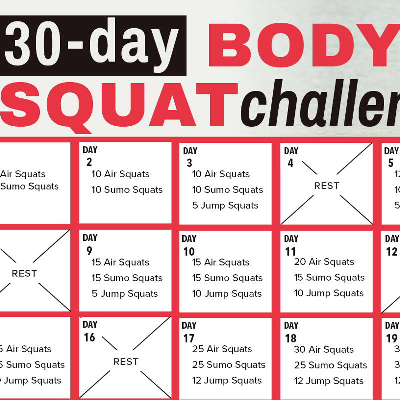 the squat challenge pdf free