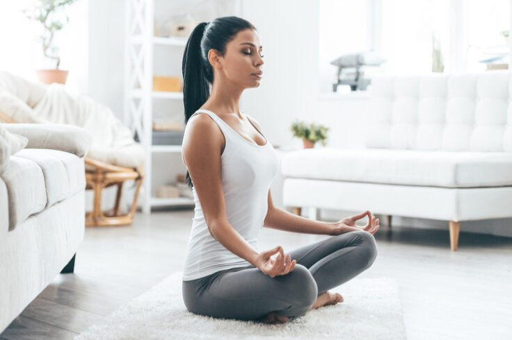 Meditation is an excellent way to calm down and de-stress.