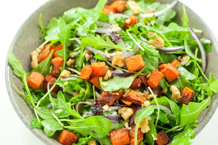 Butternut Squash and Turkey Bacon Salad