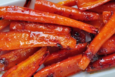 Orange Glazed Roasted Carrots