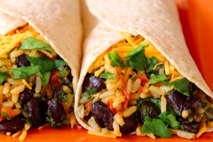 Spinach and Bean Burrito Wrap
