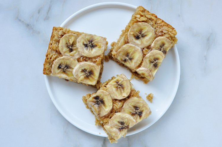 Baked Peanut Butter Banana Oatmeal