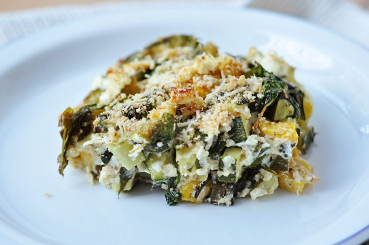 Baked Zucchini Spinach And Feta