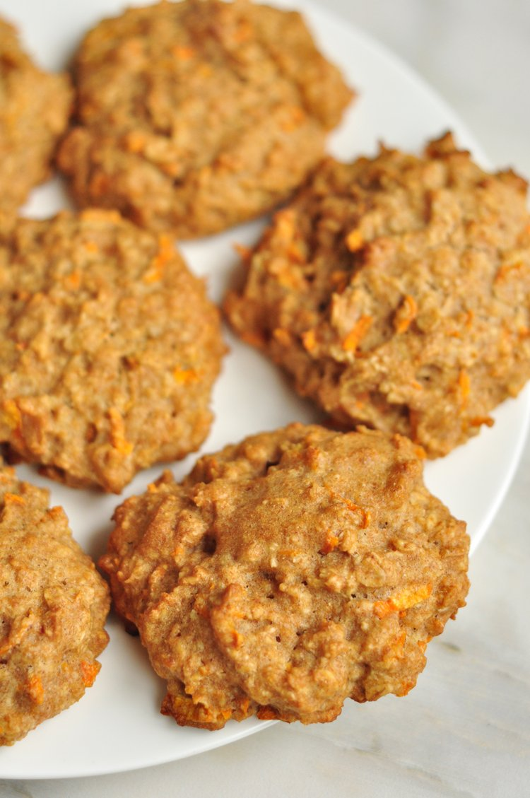 Carrot Spice Oatmeal Cookies Vegan Holiday Cookie Recipe
