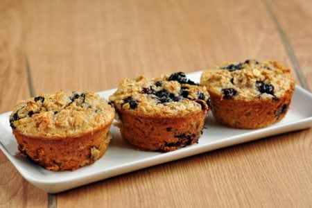 Flourless Blueberry Oatmeal Muffins