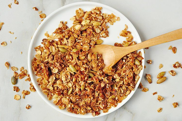 This healthy granola is one of our Protein-Packed Breakfasts Under 299 Calories!