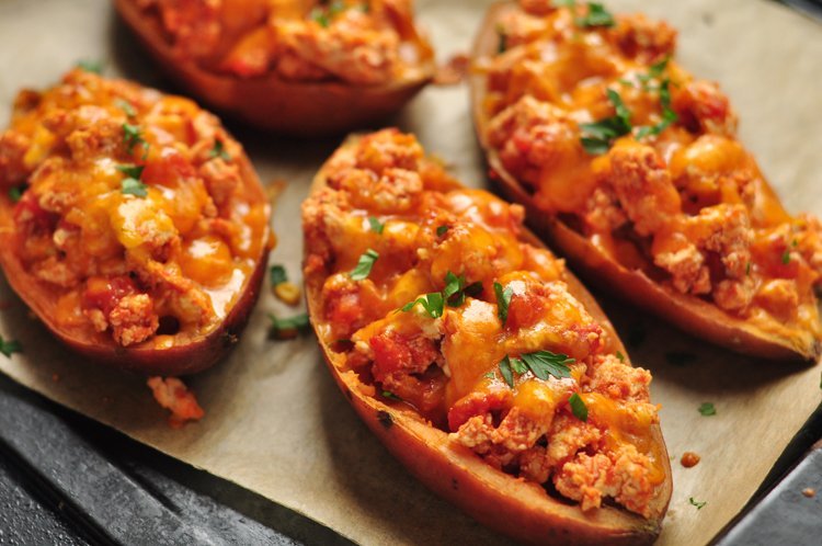 Nacho Stuffed Sweet Potatoes