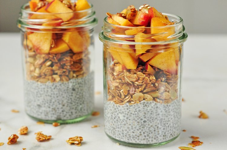 Peach Pie Breakfast Parfait