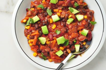 Slow Cooker Vegetable Chili – A Simple Thick & Hearty Slow Cooker Meal
