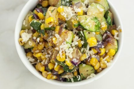 Loaded Southwest Corn and Zucchini Skillet