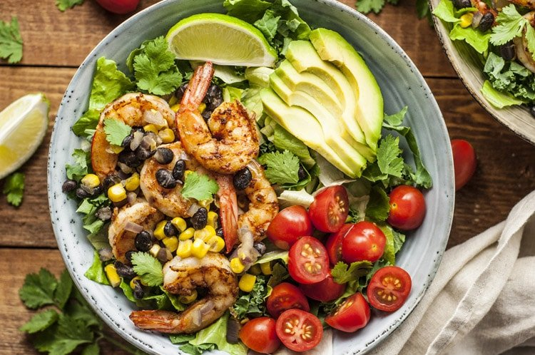 Lose Up to 10 Pounds this Month by Following this Diet Plan shrimp salad