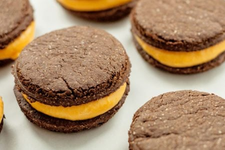 Chocolate Pumpkin Filled Cookies