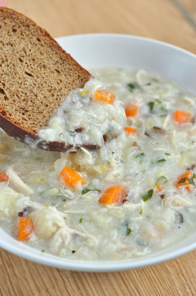Crock Pot Creamy Chicken And Wild Rice Soup