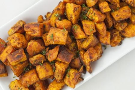 Roasted Sweet Potatoes with Turmeric and Cardamom Recipe