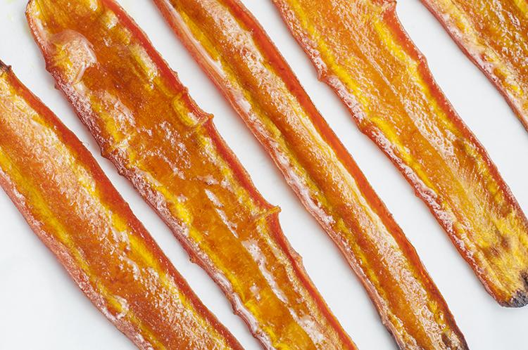 Savory Carrot Bacon | Healthy Bacon Recipe