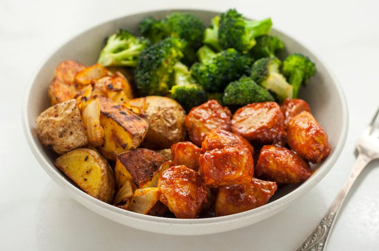 Skinny Chicken & Roasted Potato Bowl