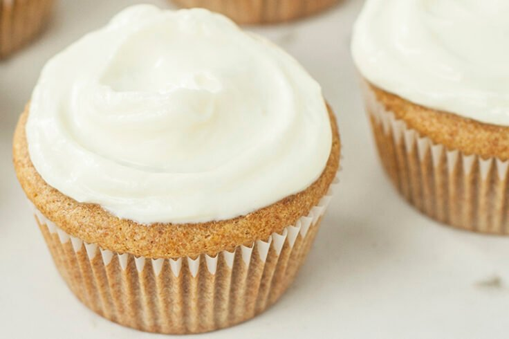 Honey Cupcakes with Vanilla Frosting