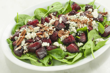 Easy Roasted Beet and Pecan Salad