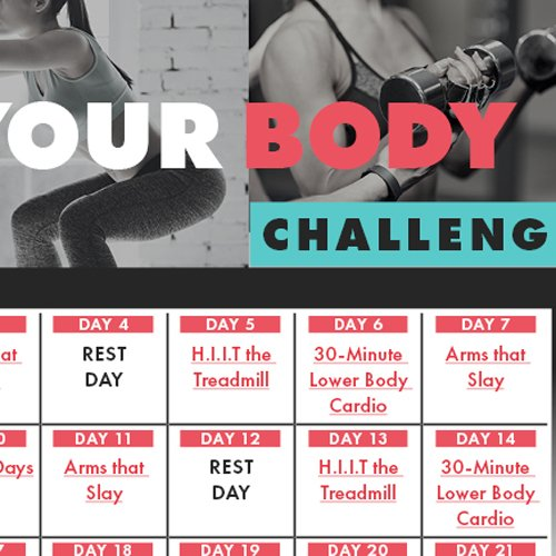 21-Day Tone Your Body Challenge Calendar