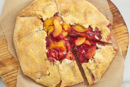 4-Ingredient Strawberry Peach Tart