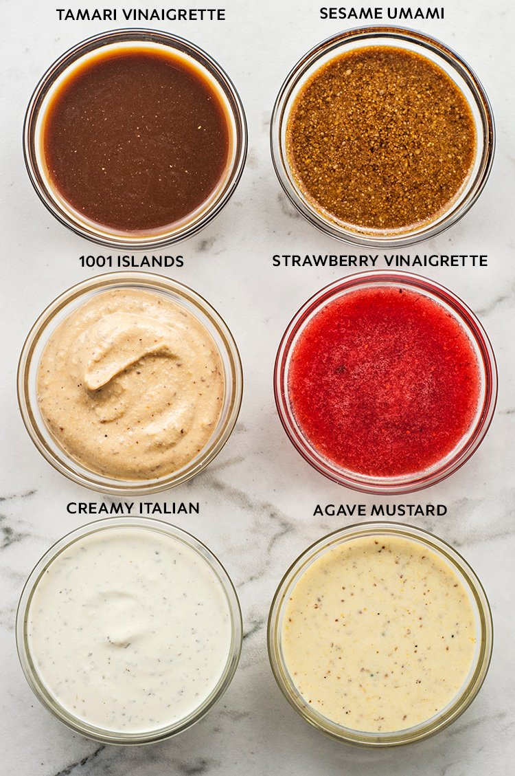 Try these 6 Plant Based Oil-Free Salad Dressing Recipes the next time salad is on the menu!