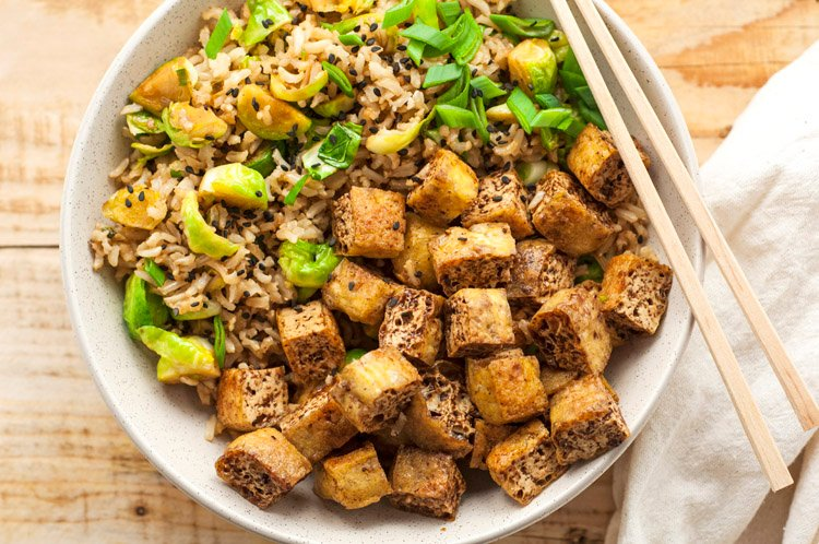 Baked Tofu Chunks with Star Anise Marinade