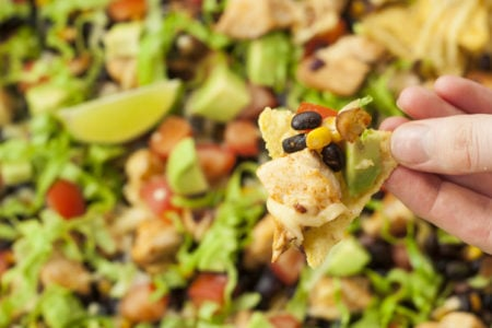 Clean Eating Loaded Grilled Chicken Nachos