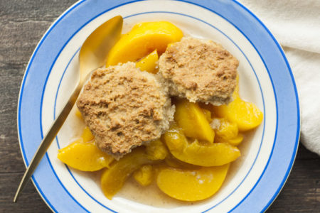 Flourless Peach Cobbler | Flourless Recipes