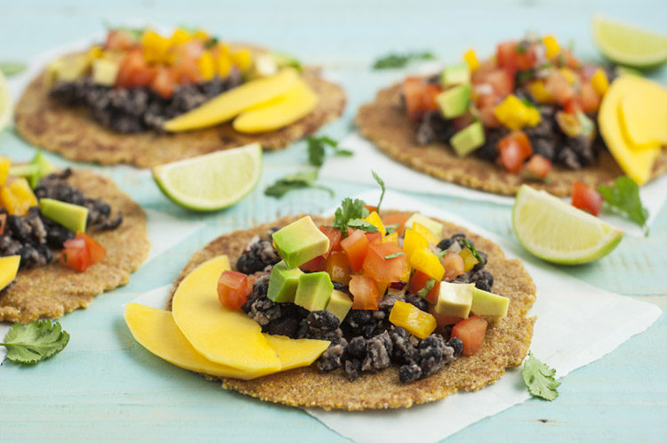 These mango and black bean tacos may be free of gluten, but they're certainly not lacking in flavor!