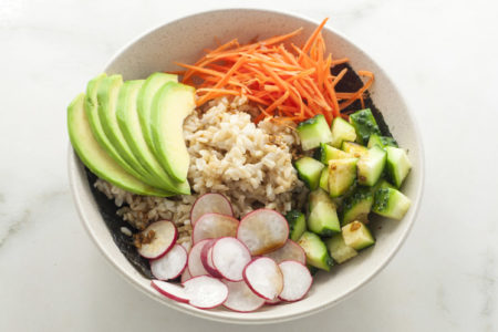 "10-Minute Vegetarian ""Sushi"" Bowl Recipe"
