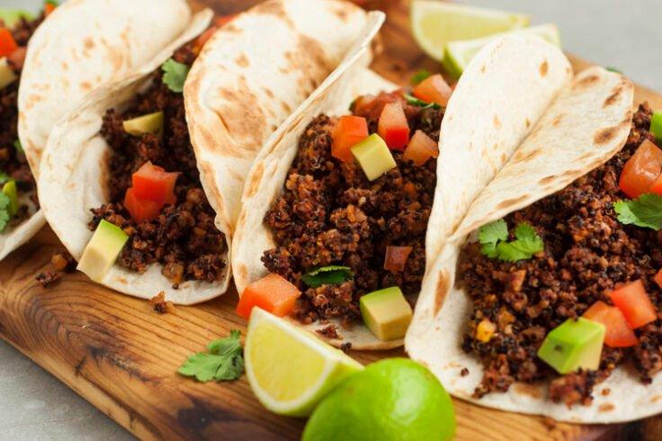 "Make tasty tacos with this vegan ground ""beef"""