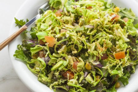Southwestern Brussels Sprout Coleslaw