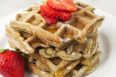 Strawberry Waffles Recipe (Gluten-Free)