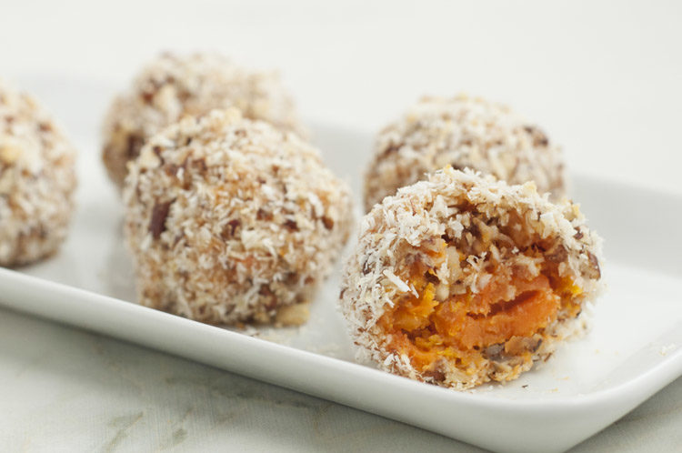 Yam Balls With Coconut & Pecans
