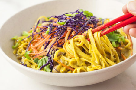 30-Minute Red Curry Noodle Bowl