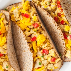 These egg and turkey sausage breakfast tacos will help you build muscle and lose weight.