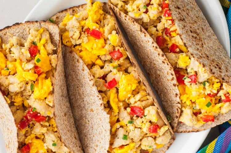 Egg And Turkey Sausage Breakfast Tacos
