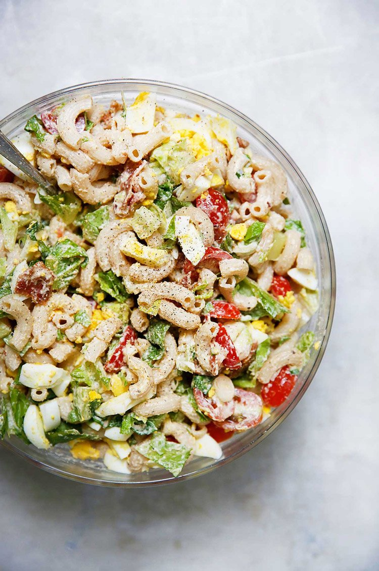 55 Healthy Summer Side Dishes - Gluten-Free BLT Pasta Salad