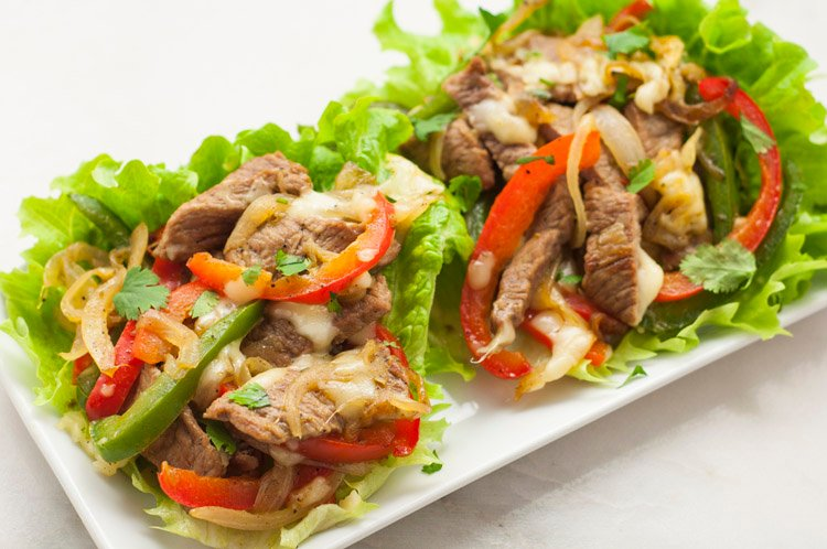 Low-Carb Philly Cheesesteaks