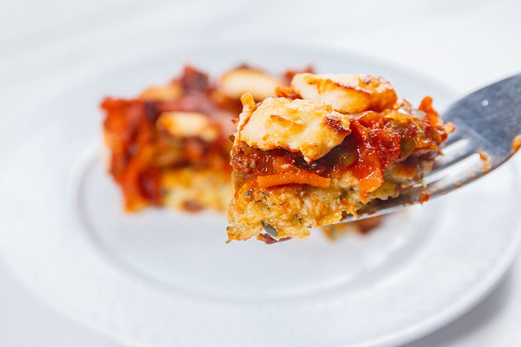 Vegetarian Pizza Casserole | Low Calorie Pizza Recipes