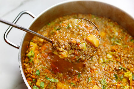 """Flush the Fat Away"" Lentil and Vegetable Soup"