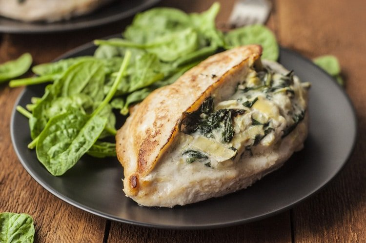 Best-Ever Spinach and Artichoke Stuffed Chicken