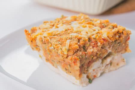 Easy Chicken Bruschetta Casserole