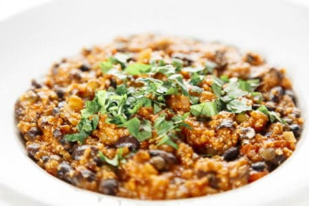 Easy Vegetarian Quinoa Chili With Lentils Recipe