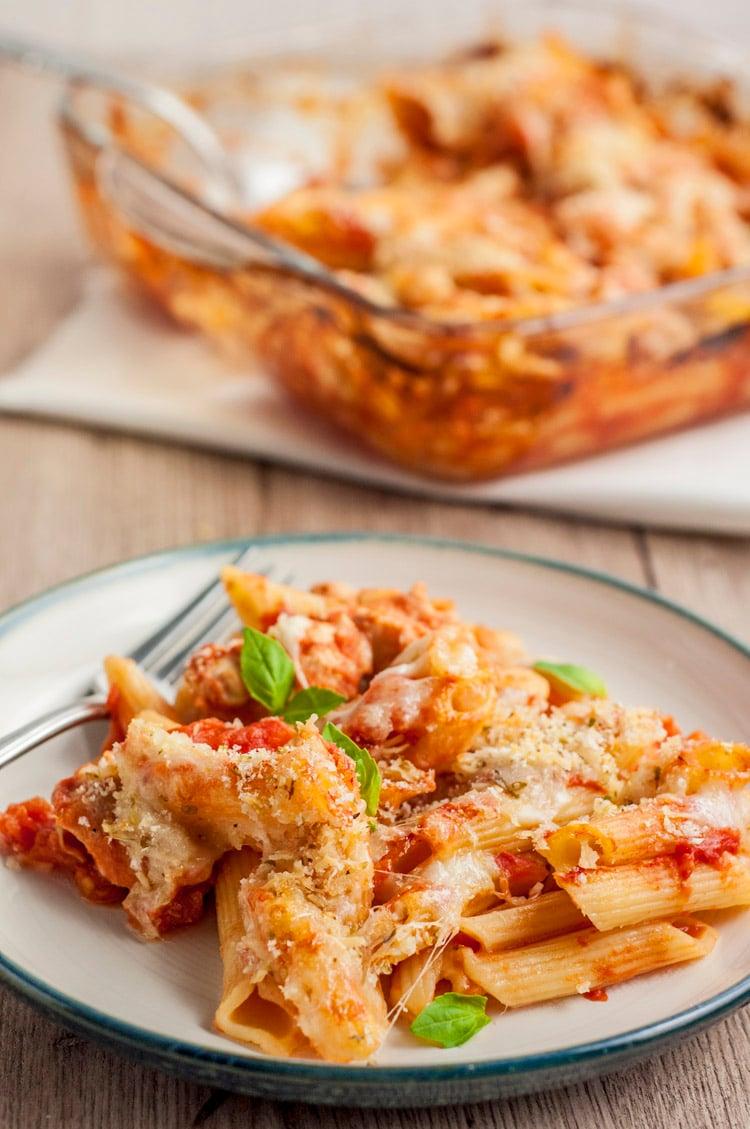 Skinny Chicken Parmesan Casserole