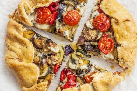 Blue Cheese and Roasted Vegetable Tart