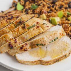 Cilantro Lime Chicken with Mexican Quinoa